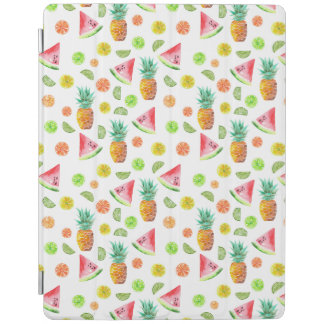 Watercolor Candied Fruit Pattern iPad Cover