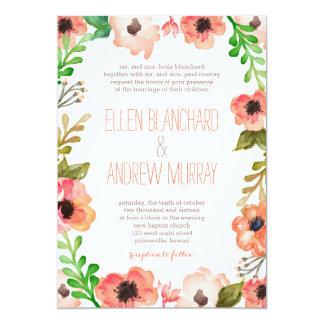 Watercolor Canopy Wedding Invitation