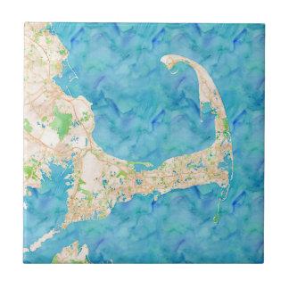 Watercolor Cape Cod Map Tile
