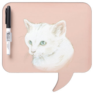 Watercolor Cat Art Dry Erase Board