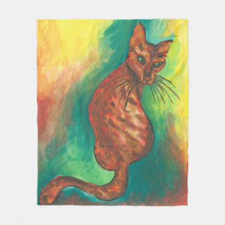 watercolor cat blanket