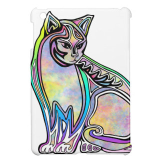 Watercolor cat cover for the iPad mini