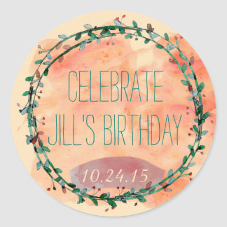 Watercolor Celebration Stickers