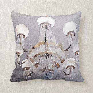 Watercolor chandelier throw pillow