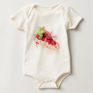 Watercolor cheesecake baby bodysuit