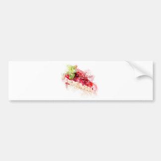 Watercolor cheesecake bumper sticker