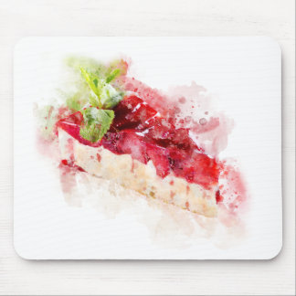 Watercolor cheesecake mouse pad