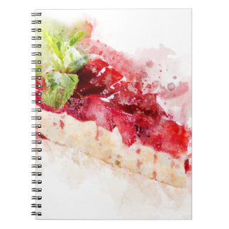 Watercolor cheesecake spiral notebook