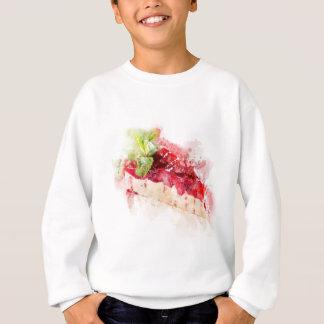 Watercolor cheesecake sweatshirt