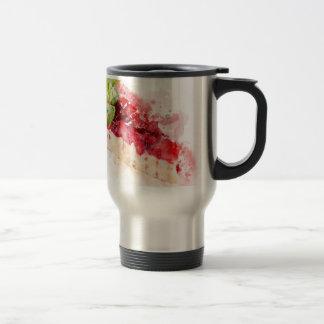 Watercolor cheesecake travel mug