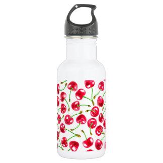Watercolor cherries pattern 532 ml water bottle