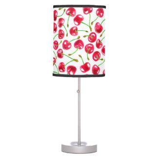 Watercolor cherries pattern table lamp