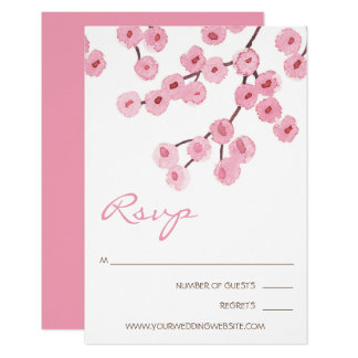 Watercolor Cherry Blossom Branches Card