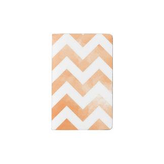 Watercolor Chevron Orange Pocket Moleskine Notebook