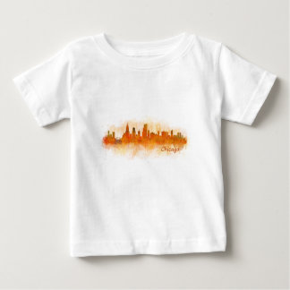 watercolor Chicago skyline cityscape v03 Baby T-Shirt