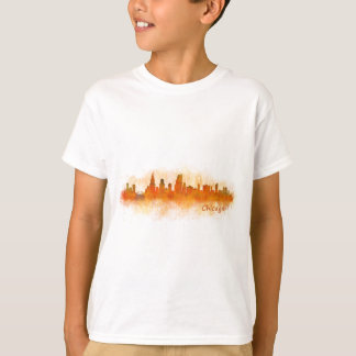 watercolor Chicago skyline cityscape v03 T-Shirt