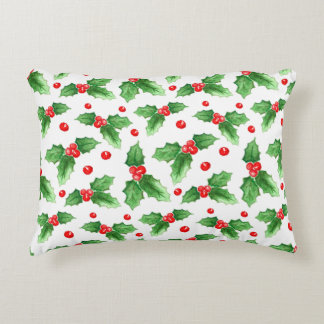 Watercolor Christmas And New Year Decorations Decorative Pillow
