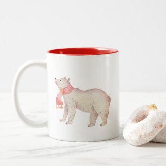 Watercolor Christmas Bear | Holiday Mugs