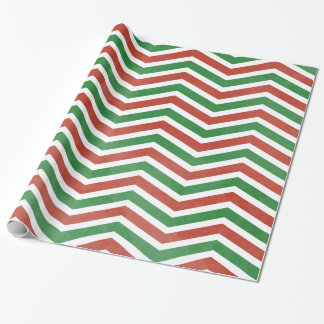 Watercolor Christmas Chevron (Customizable) Wrapping Paper