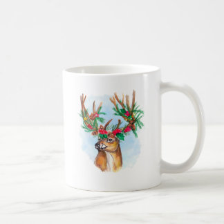 Watercolor Christmas Reindeer Mug