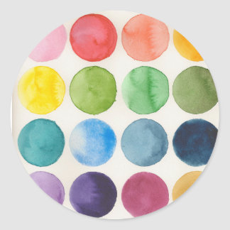 Watercolor circle chart stickers