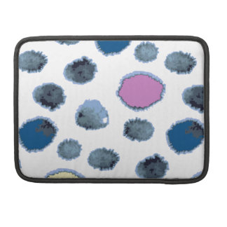 Watercolor circles sleeve for MacBook pro