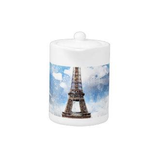 Watercolor Cityscape Paris, Eiffel Toward