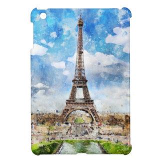 Watercolor Cityscape Paris, Eiffel Toward iPad Mini Cover