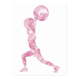 Watercolor Clean & Jerk in Pink Postcard