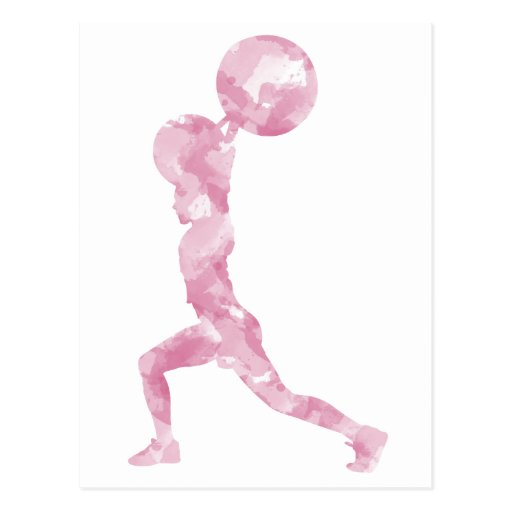 Watercolor Clean & Jerk in Pink Post Card