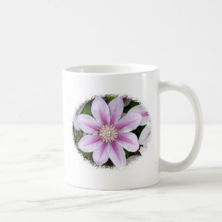 Watercolor Clematis Coffee Mugs