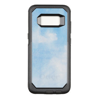 Watercolor clouds and sky background OtterBox commuter samsung galaxy s8 case