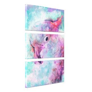 Watercolor cockatoo canvas print
