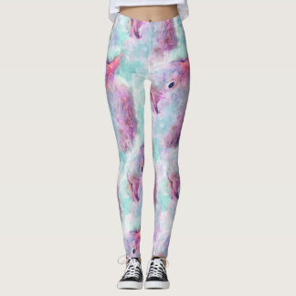 Watercolor cockatoo leggings