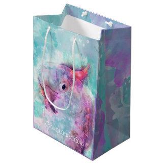 Watercolor cockatoo medium gift bag