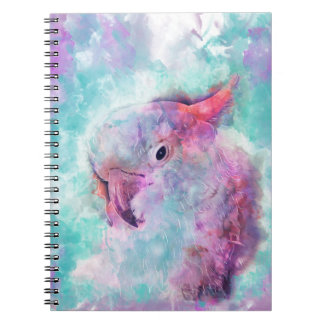 Watercolor cockatoo notebook