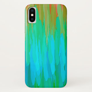 Watercolor Colored Abstract Background #3 iPhone X Case