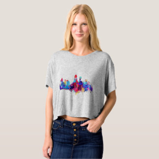 Watercolor colorful Dallas skyline t-shirt