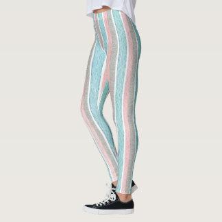 Watercolor Colorful Stripes Leggings