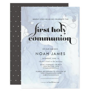 Watercolor Communion Invitation