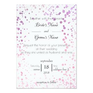 Watercolor Confetti Frame Wedding Invitation