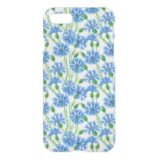 Watercolor cornflower pattern iPhone 8/7 case