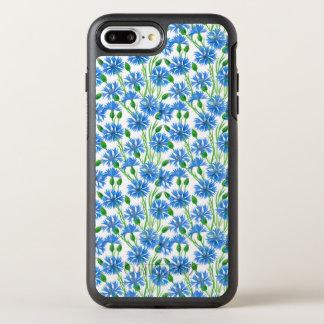 Watercolor cornflower pattern OtterBox symmetry iPhone 8 plus/7 plus case