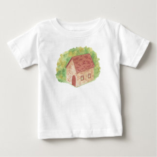 Watercolor Cozy Cottage Baby T-Shirt