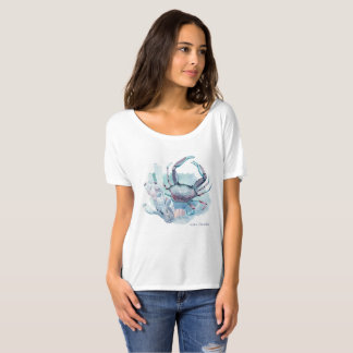 Watercolor Crab and Coral T-Shirt