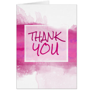 Watercolor Crimson ROSE Design - Thank You Card