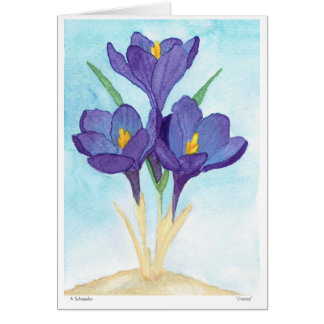 Watercolor Crocus Note Cards