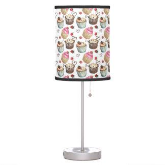 Watercolor cupcakes table lamp