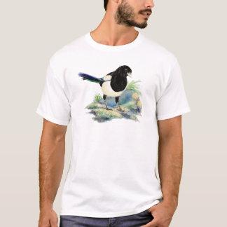 Watercolor Curious Magpie Fun Bird Art T-Shirt