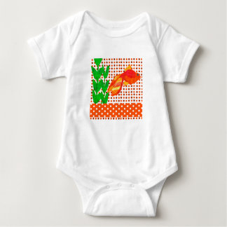 Watercolor Cute Aquatic Tropicl Fish Baby Bodysuit